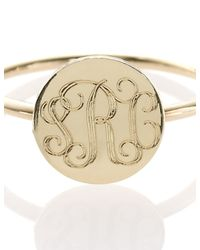 Sarah Chloe | Metallic Gold Plated Initial Rocha Ring | Lyst