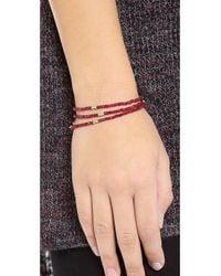 Shashi | Purple Eliza Wrap Bracelet | Lyst