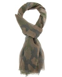 Valentino - Green Camouflage Scarf for Men - Lyst