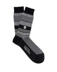 Alexander McQueen - Black Skull Socks for Men - Lyst