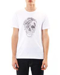 Alexander McQueen - White Tattoo Snake Skullprint Tshirt - Lyst