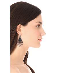 Alexis Bittar - Metallic Santa Fe Deco Arrowhead Chandelier Earrings - Lyst