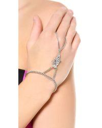 Ben-Amun - Metallic Crystal Hand Piece - Clear - Lyst
