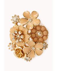 Forever 21 - Metallic Elegant Floral Cluster Studs - Lyst