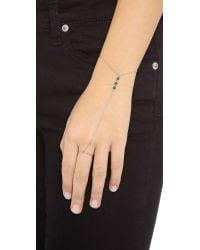 Kismet by Milka - Green Jade Hand Chain Jadegold - Lyst