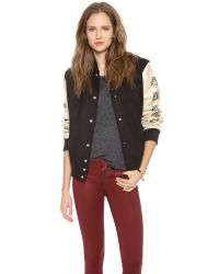 Love Leather | Multicolor Lover Letterman Jacket | Lyst
