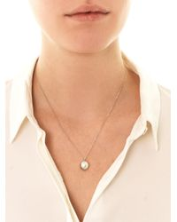Melanie Georgacopoulos - Blue White-Pearl & White-Gold Necklace - Lyst