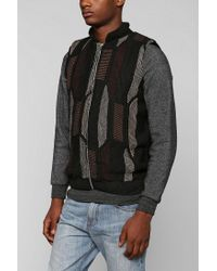 Urban Outfitters - Black Urban Renewal Patterned Sweater Vest for Men - Lyst