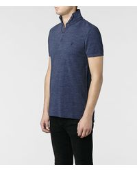 AllSaints - Blue Sandringham Polo for Men - Lyst