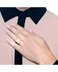 Lulu Frost - Metallic Code 14 Kt Arrow Ring - Lyst