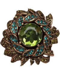 Oscar de la Renta - Green Sunburst Crystal Ring - Lyst
