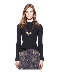 Tory Burch - Metallic Pearl Dragonfly Necklace - Lyst