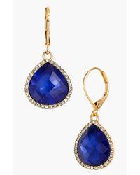 Anne Klein | Blue Stone Teardrop Earrings | Lyst