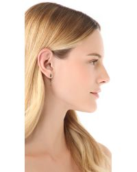 Luv Aj - Gray The Mini Tusk Earrings - Lyst