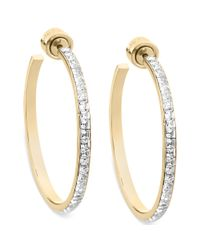 Michael Kors - Metallic Goldtone Swarovski Elements Hoop Earrings - Lyst