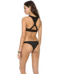 Mikoh Swimwear | Black Barbados Bikini Top | Lyst