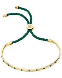Monica Vinader   Green Fiji Gem Bracelet   Lyst