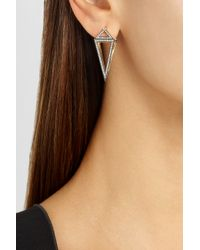 Noor Fares - Octahedron 18karat Blackened Gold Diamond Earrings - Lyst