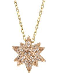 Noor Fares - Metallic Merkaba 18karat Rose Gold Diamond Necklace - Lyst