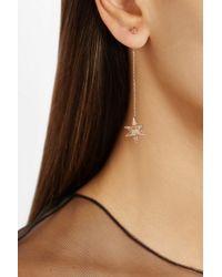 Noor Fares - Metallic Merkaba Double Dress 18karat Rose Gold Diamond Earrings - Lyst