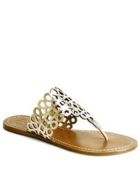 Tory Burch | White Davy Flat Thong Sandal | Lyst