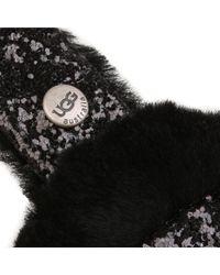 UGG - Black Two-tone Sequin Shearling Fur Headphone Wired Earmuffs - Lyst