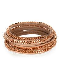 Vita Fede | Pink Capri 5 Wrap Bracelet Nude | Lyst