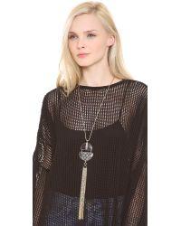Adia Kibur - Metallic Fringe Pendant Necklace - Lyst