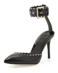 B Brian Atwood | Black Migita Stripetrim Anklewrap Sandal | Lyst