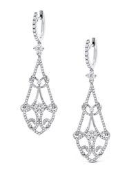 KC Designs - Metallic Long Diamond Chandelier Earrings - Lyst