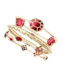 Kendra Scott | Beverly Bracelet Set Pinkred | Lyst