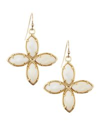 Kendra Scott - Flower Fourstation Earrings White - Lyst