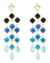 Kendra Scott | Blue Gloria Chandelier Earrings | Lyst