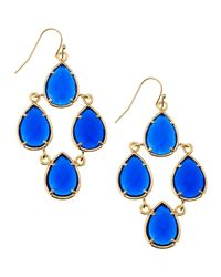 Kendra Scott | Blue Pearcut Chandelier Earrings Cobalt | Lyst