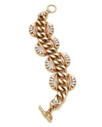 Lee Angel - Metallic Baguette Statement Bracelet - Lyst