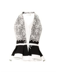 Peter Pilotto | White Cate Embroidered Lace Top | Lyst