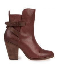 Rag & Bone - Brown Kinsey Leather Ankle Boots - Lyst