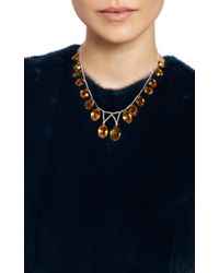 Simon Teakle | Metallic Antique Seed Pearl and Citrine Fringe Necklace | Lyst