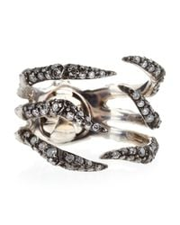Stephen Webster - Metallic Diamond Pave Spider Crab Ring Size 7 - Lyst