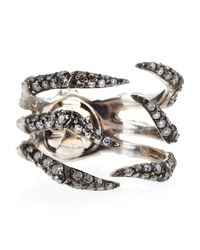 Stephen Webster | Metallic Diamond Pave Spider Crab Ring Size 7 | Lyst