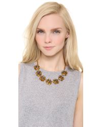 Tory Burch - Metallic Crystal Rose High Necklace - Lyst