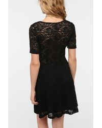 Urban Outfitters - Black Pins and Needles Sweetheart Lace Dress - Lyst