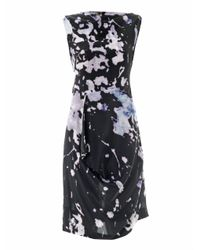 Vivienne Westwood Anglomania - Black Prophecy Cracking Print Dress - Lyst