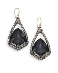 Alexis Bittar - Black Hematite and White Quartz Doublet Earrings - Lyst