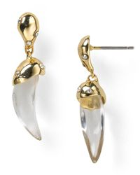 Alexis Bittar - Natural Lucite Sabertooth Earrings - Lyst
