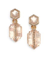 Alexis Bittar - Brown Citrine and Motherofpearl Doublet Drop Earrings - Lyst