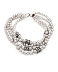 Alexis Bittar | White Shell Pearl Multistrand Necklace for Men | Lyst