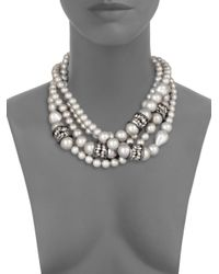 Alexis Bittar - White Shell Pearl Multistrand Necklace for Men - Lyst