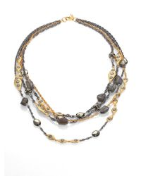 Alexis Bittar | Metallic Multistrand Labradorite Pyrite Crystal Necklace | Lyst