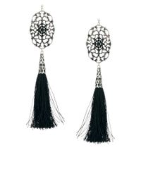 ASOS | Black Filigree Tassel Earrings | Lyst